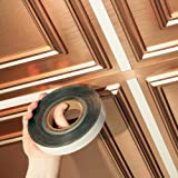 Ceilume 1 in. wide x 100 ft. long roll Deco-Tape Faux Copper Self-Adhesive Decorative Grid Tape