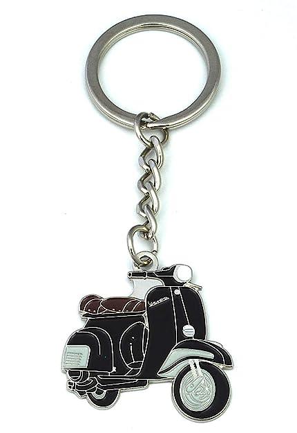 Llavero Moto Vespa Negra: Amazon.es: Joyería