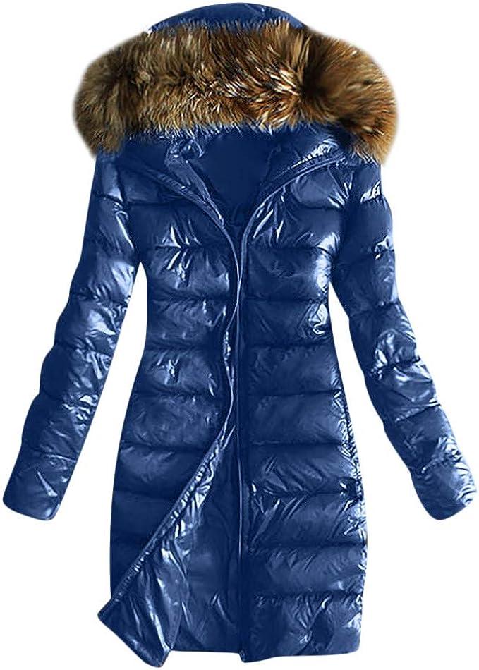 TEBAISE Winterjacken Damen Warm Lange Daunenjacke