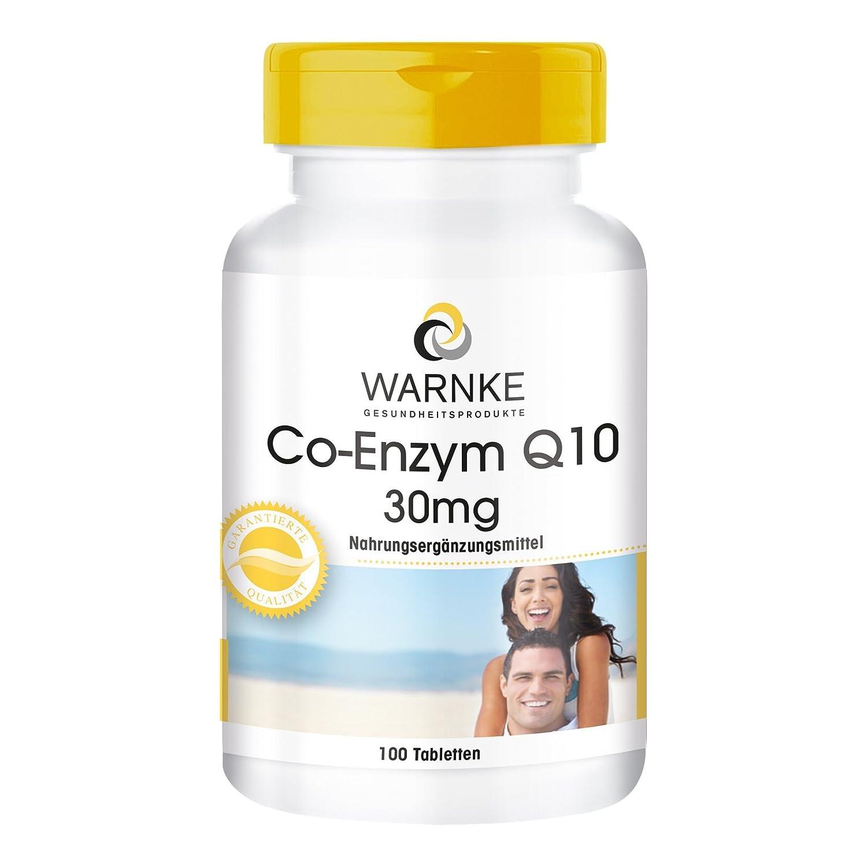 Warnke Health Products Coenzyme Q10 30mg, vegan, 100 tablets: Amazon.es: Salud y cuidado personal