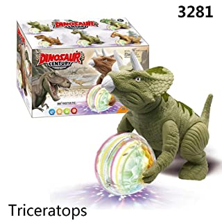 Ganmek Toy Dinosaur Electric Walking Stage Lighting Urlando per i Bambini Triceratops Tyrannosaurus Rex Brachiosaurus Doll