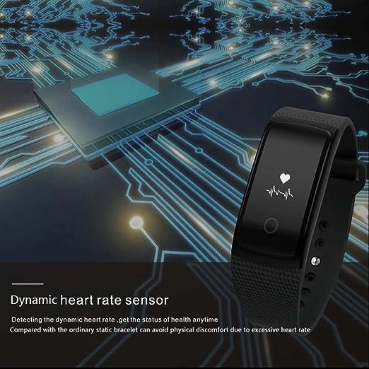 Anti de pérdida de Smart Pulsera Actividad tracker Fitness Monitor de frecuencia cardíaca Reloj de pulsera con contador de calorías Dormir Análisis sentado ...