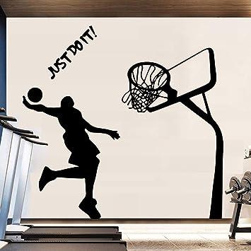 BFMBCH Tiro de baloncesto Etiqueta de la pared Decoración de ...