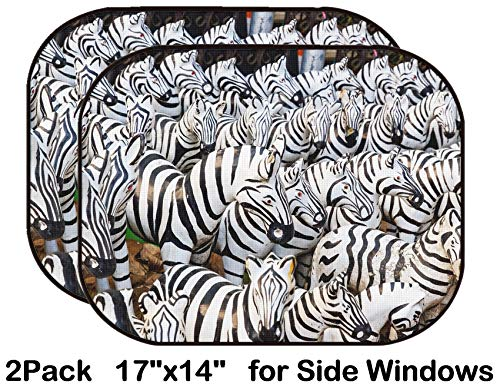 Liili Car Sun Shade for Side Rear Window Blocks UV Ray Sunlight Heat - Protect Baby and Pet - 2 Pack Image ID: 27967626 Zebra Statue at The Shrine for Worship