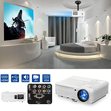 Proyector de Video LED Compatible con 4500 lúmenes WXGA 1080P ...