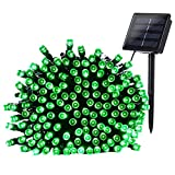 Qedertek 200 LED Solar Christmas Lights - 72 ft Fairy Decorative Garden String Lights for Home - Patio - Porch - Lawn - Party and Holiday Decorations(Green)