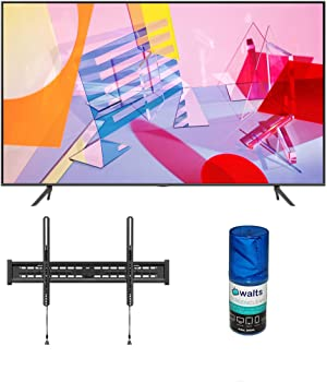 Samsung QN43Q60TA Ultra High Definition Smart 4K Quantum HDR QLED TV with a Walts TV Large/Extra Large Tilt Mount for 43