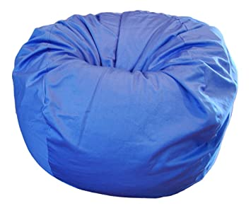 Amazoncom Ahh Products Blue Organic Cotton Large Bean Bag Chair