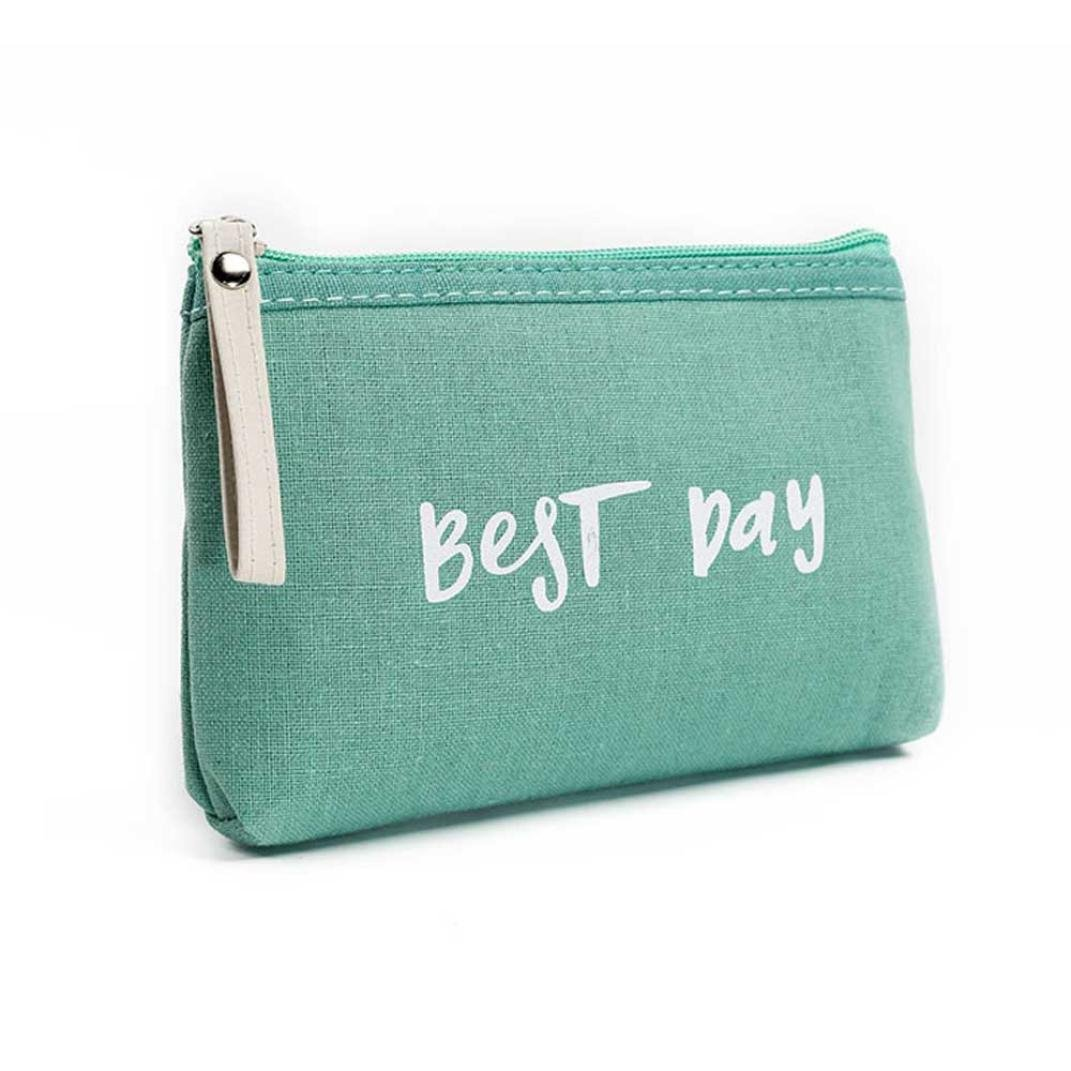 Canvas Coin Purse,BCDshop Retro Money Bag Small Wallet for Women Girls,Best Day Print, (E)