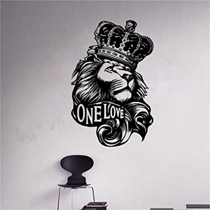 Amazon Com Wall Decal Sticker Lion Zion One Love Bob Marley