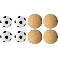 TGA Sports Billiards 4 Cork Foosballs Natural-Wood Colored Table Soccer Foos Balls