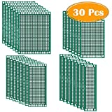 30 Pcs Double Sided PCB Board Prototype Kit for DIY, 4 Sizes by Paxcoo