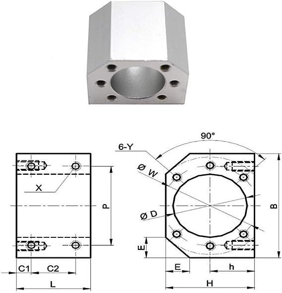 RATTMMOTOR DSG16H Geh/äusehalterung f/ür SFU1604//1605//1610 28mm Innendurchmesser Geh/äuse f/ür Kugelumlaufmutter Kugelumlaufspindelmutter Sitzhalterung f/ür 3D-Druck Graviermaschine