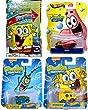 SpongeBob SquarePants Hot Wheels set Patrick, Plankton & Sponge Bob Character Cars + Play Pack stickers crayons coloring activity book