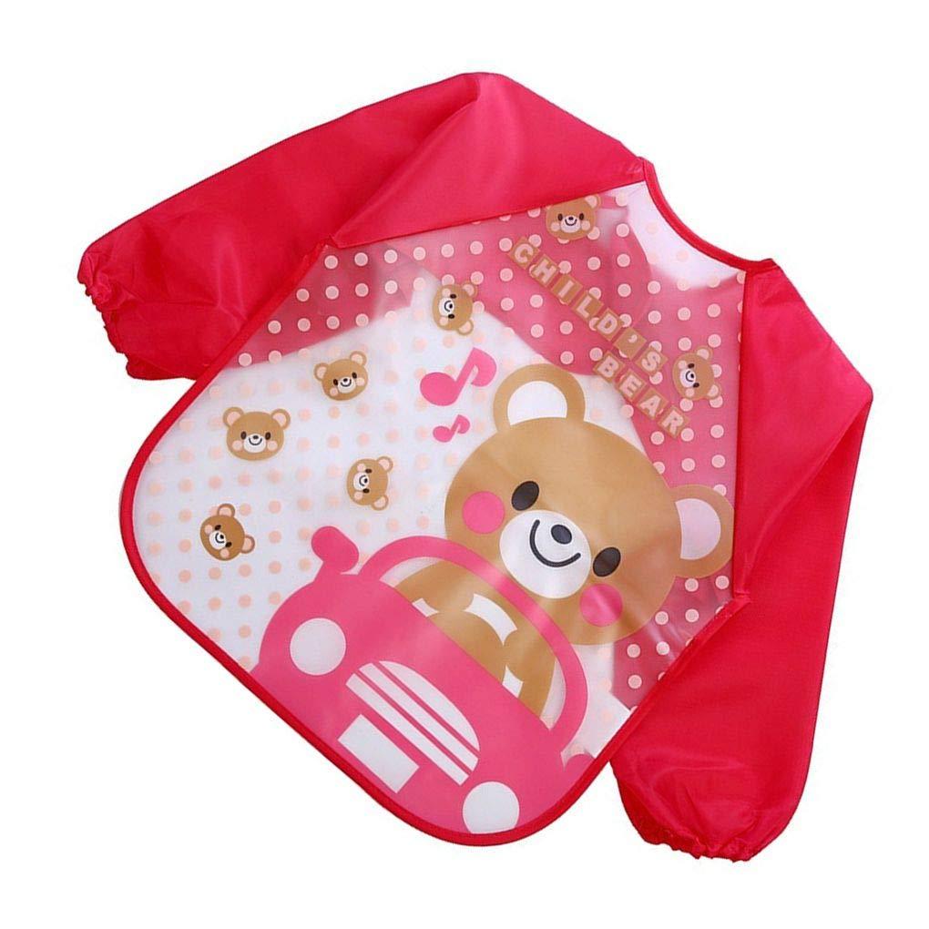 Beaums Lovely Baby bavaglini neonato manica lunga bambino grembiule dalimentazione impermeabile di plastica dei bambini Tuta Bib Bambino Sciarpa
