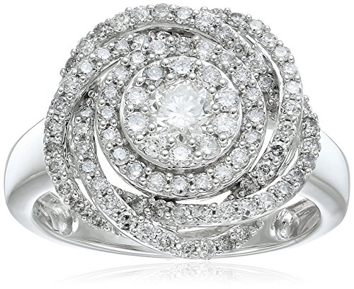 14k White Gold Diamond Pave Knot Ring (1cttw), Size ()