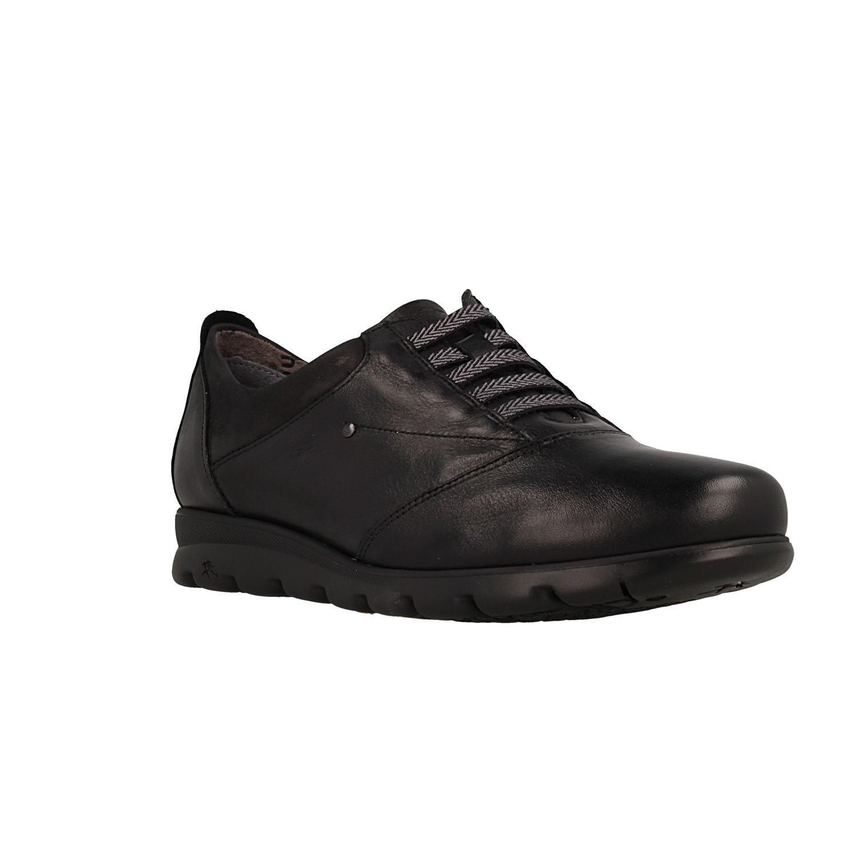 Fluchos Susan, Zapatos de Cordones Derby para Mujer 37 EU|Negro (Sugar Nobuck Negro Negro)