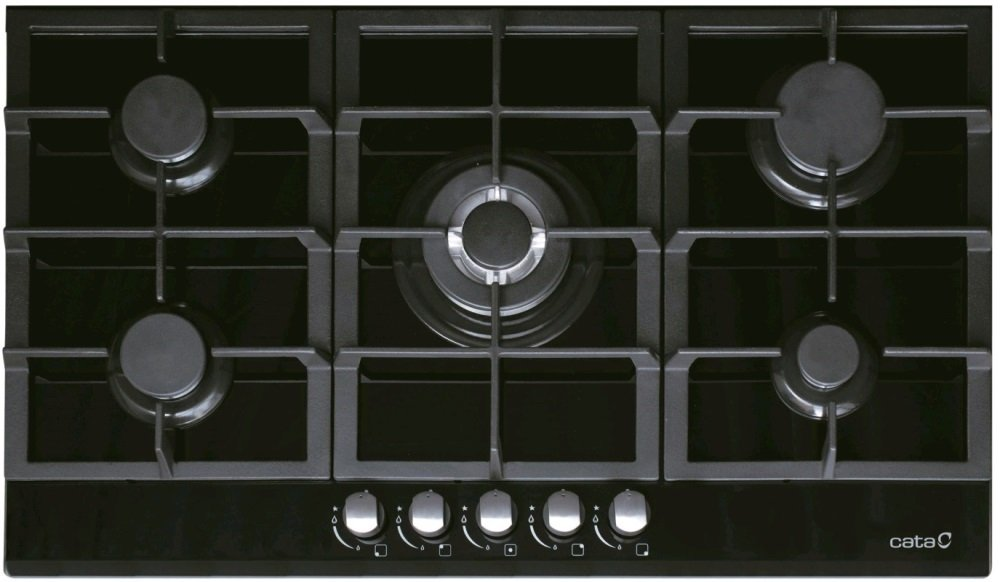 Placa CATA LCI 941 BK Negro Incorporado, Gas, Vidrio, Giratorio, Parte superior delantera, 10900W