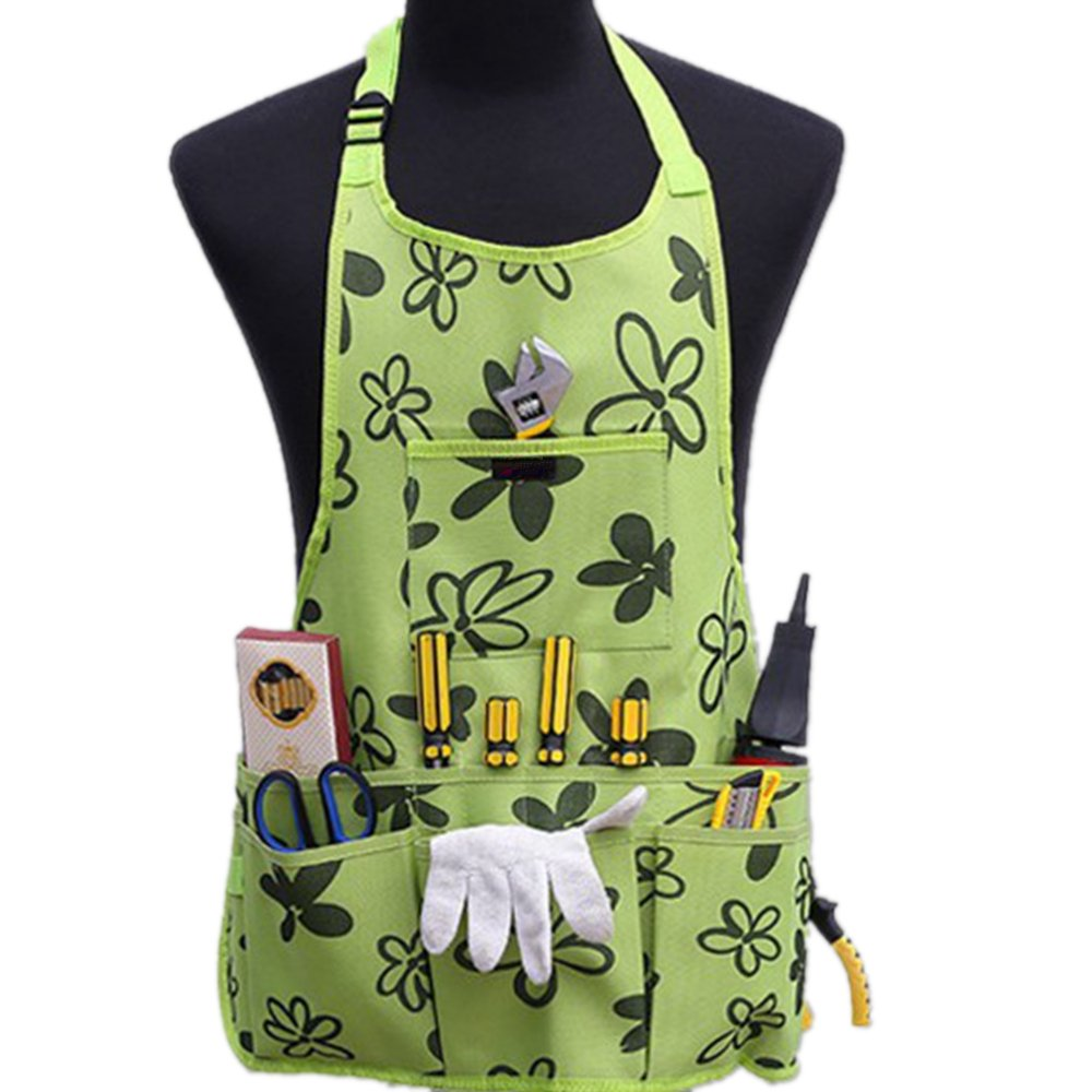 Oxford Cloth Work Apron Garden Apron for Home Garden Waterproof,Heavy Duty Work Apron with Tool Pockets Adjustable up to XXL for Men & Women by xt