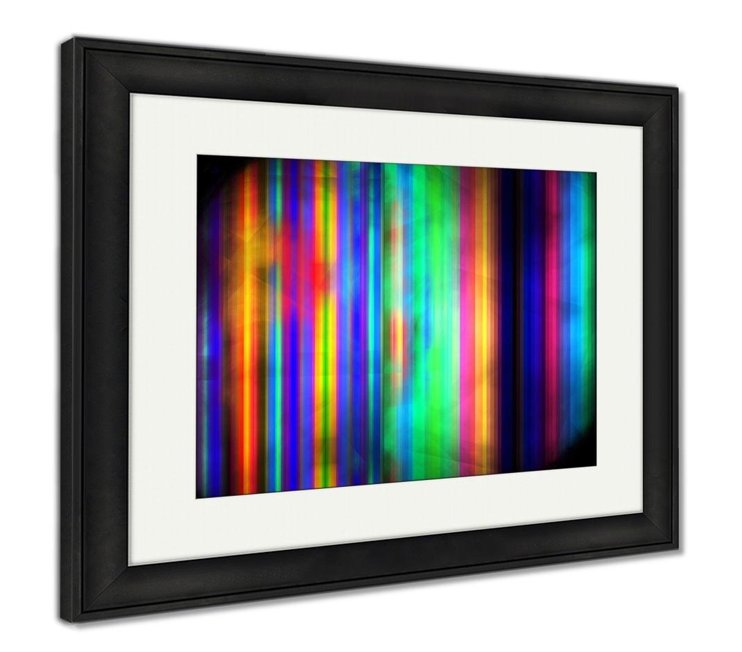 ashleyフレームプリント 抽象rainbow lines psychedelic fractal