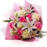 Floric HP851 Luxury Lily And Rose Bouquet - Multicolour