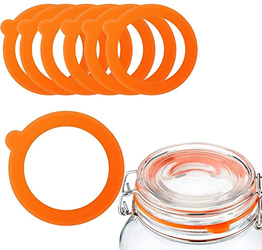 15 Pieces Silicone Jar Gaskets Replacement Silicone Seals Silicone Replacement Gasket Seals Fits Regular Mouth Canning Jars White 3.75 Inches