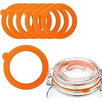 Paquete de 12 sellos de silicona de repuesto, sellos de goma para tapas de frascos, se adapta a tarros de vidrio de boca…