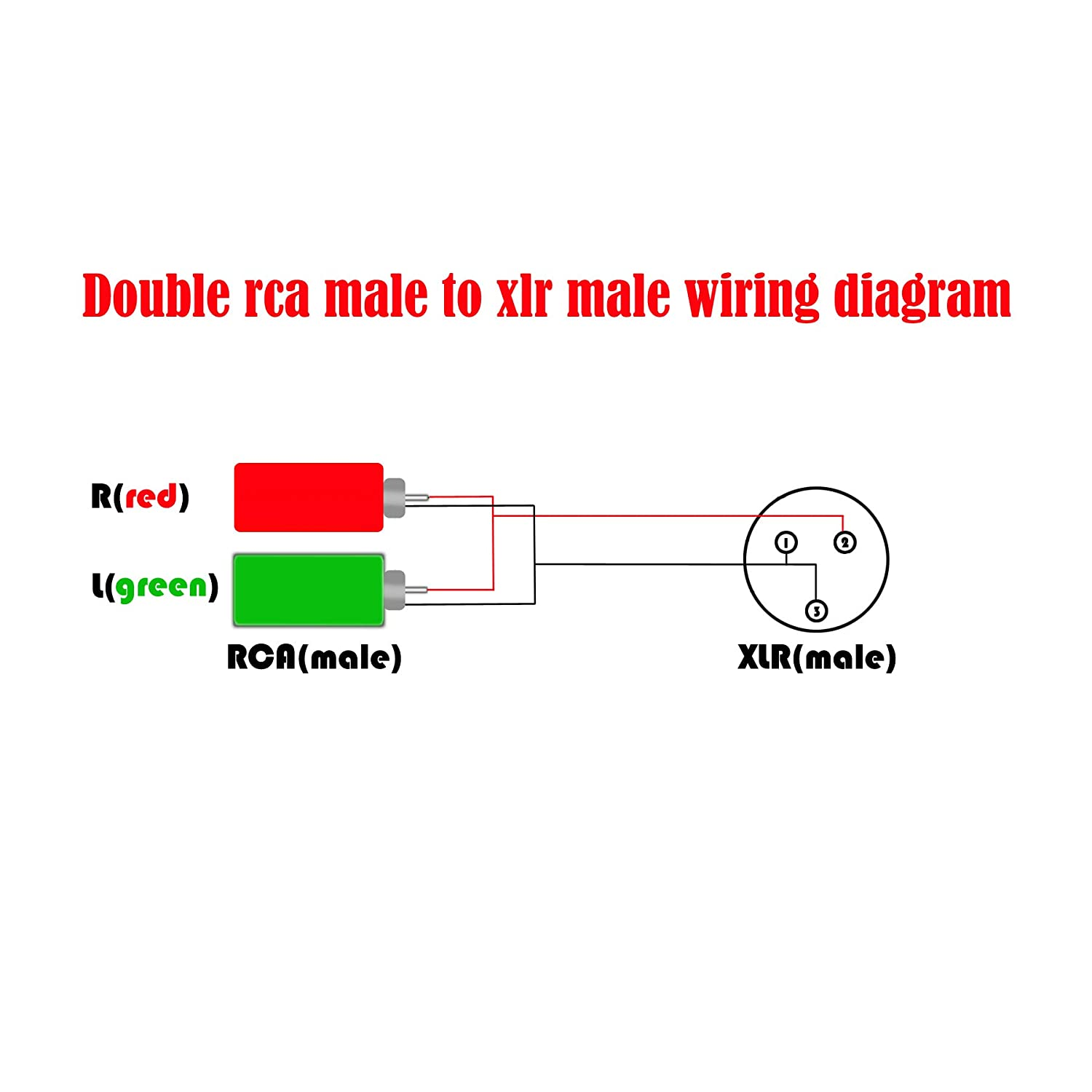 Siyear Xlr Male To 2 X Phono Rca Plug Adapter Y Splitter Wiring Diagram For Patch Cable 1 3 Pin Dual Stereo Audio Connector3