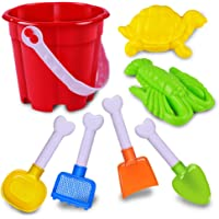 Sanwooden Interesting Toy Beach Bucket Set 7Pcs/Set Children Bathing Outdoor Beach Bucket Spade Digging Sand Playing Toy Outdoor Toys