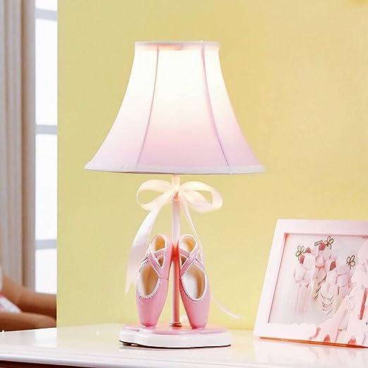 JJJJD Habitación infantil para niñas Lámpara de mesa de dormitorio ...
