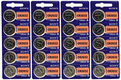 Sony CR2032 Lithium Coin Cell 3V 20 Pcs (Pro 220 Pack)