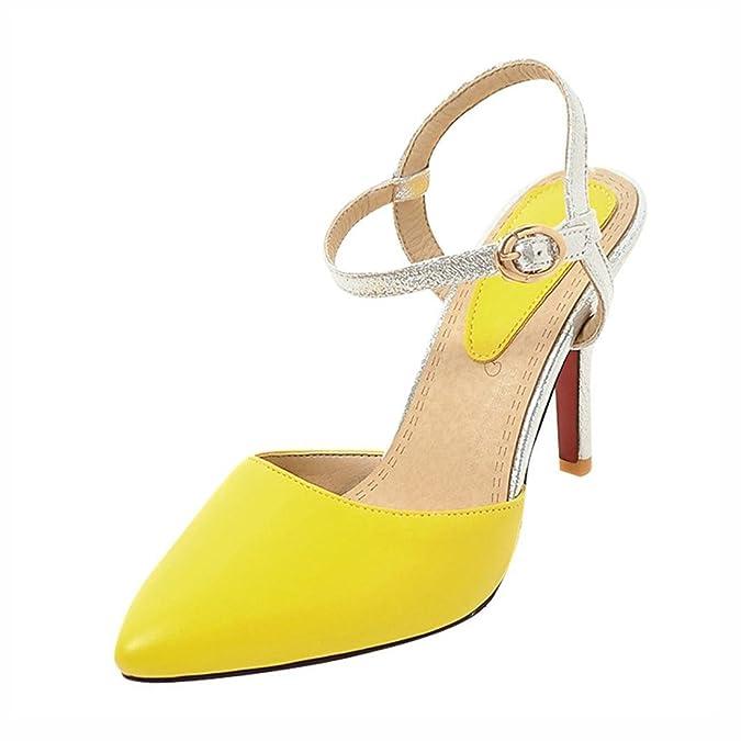 Agodor Damen Slingback Ankle Strap Stiletto Sandalen mit Schnalle und Spitze  High Heels Pumps Rockabilly Schuhe - goettingen-versicherung.de d100c9719e