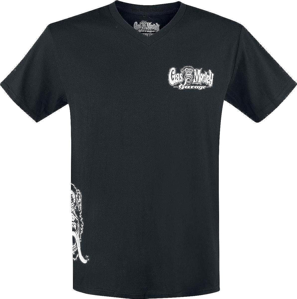 137aef8f5681bb Gas Monkey Garage Side Monkey T-Shirt Black: Amazon.co.uk: Clothing
