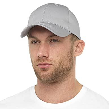 41472ebc67c Image Unavailable. Image not available for. Colour  Tom Franks Mens Basic  Plain Dyed Baseball Cap With Adjustable Cinch Belt - Plain Grey Colour