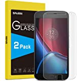 [Pack of 2] Moto G4 Plus Screen Protector, SPARIN [Tempered Glass] [Bubble-Free] [9H Hardness] [Scratch-resistant] Screen Protector for Moto G4 Plus [Lifetime Warranty]