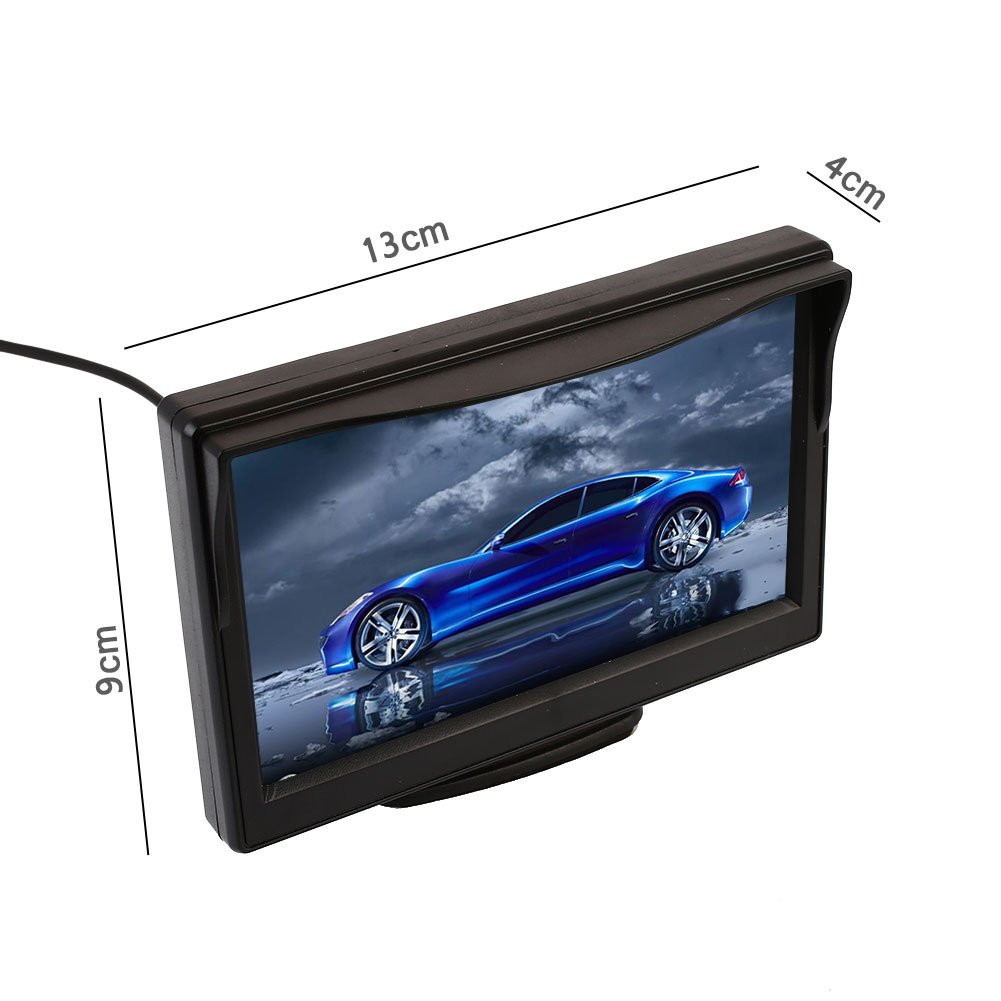 Auntwhale Car Monitor Rearview Monitor Portable TFT LCD Screen5 Inches Security Display LCD