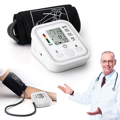 Hotbesteu Tensiómetros de Brazo Eléctricos Tensiómetro de Brazo Digital Presion Arterial LCD Pantalla para Dar Lecturas