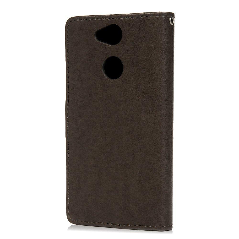 Ausweishalter f/ür Sony Xperia XA2 Rose mit Eulenmotiv mit Strasssteinen sto/ßfest Tophung Schutzh/ülle f/ür Sony Xperia XA2 PU-Leder magnetischer St/änder Kartenhalter weiches TPU