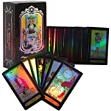 GLOGLOW Tarot Cards for Beginner Deck Vintage 78 Cards Rider Waite Future Telling Game in Colorful Box (Black)