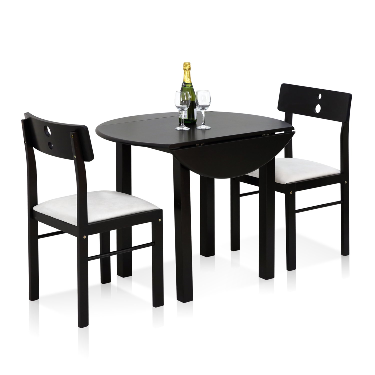 Versatile Kitchen Table And Chair Sets For Your Home: Furinno FKCD075-3 Cos-Drop Leaf Dining Set