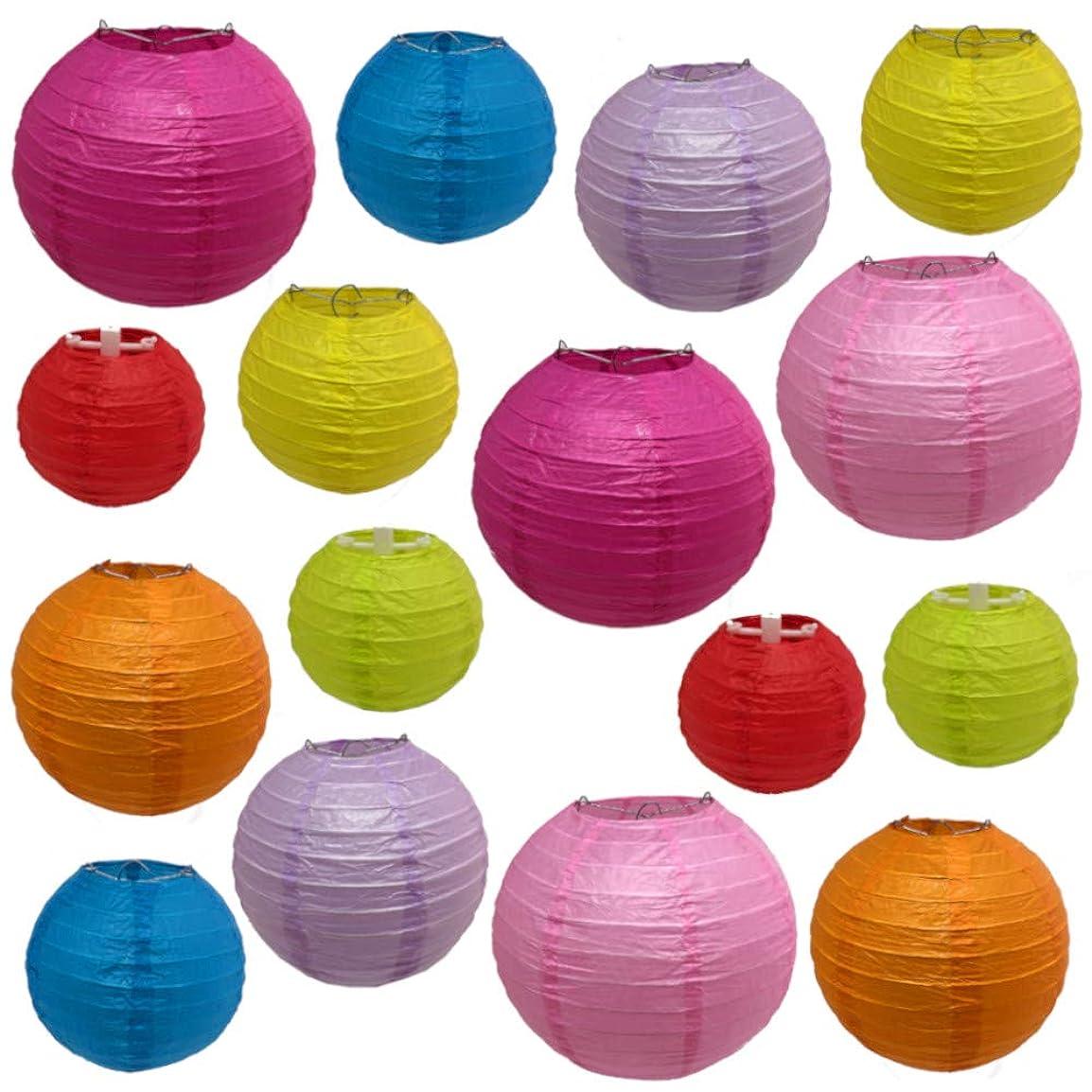 歯痛誘発するいとこペーパーファン ペーパー飾り付け  扇フラワー 扇子 6個セット 3つサイズ  (オレンジ)