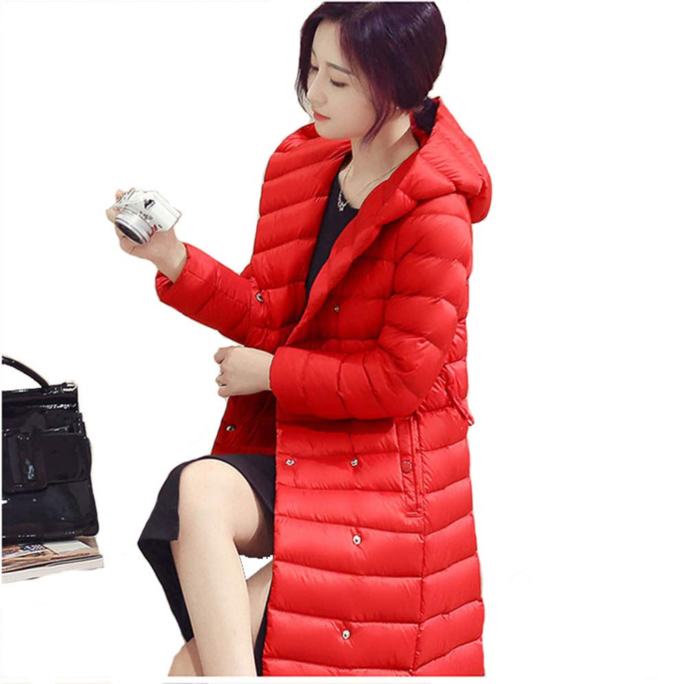 3 Autumn Winter Women Duck Downs Jacket Parkas Sashes Long Down Coat Ladies Ultra Light Outerwear Hooded Coats Plus Size