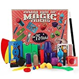 Kids Magic Kit, Leegoal 75-Trick Spectacular Magic Show Set, Easy Magic Tricks for Beginners and Kids of All Ages with Cards/Coin/Wand/Fake Thumb Finger/Cup Beads