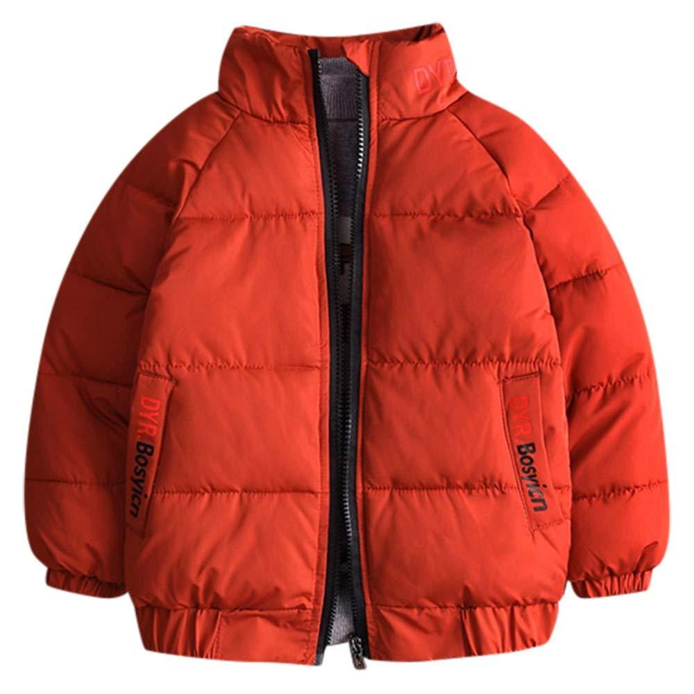 YanHoo Ropa para niños Collar Largo del Soporte de la Manga de los niños Color sólido más Abrigo de algodón Grueso de la Capa del Invierno Caliente del ...
