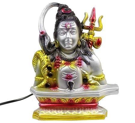 BlankLeaf Lord Shiva 10 in 1 Types Religios Mantra Machine/Gayatri Mantra/Akhand Chanting Shloka Box with LED Light