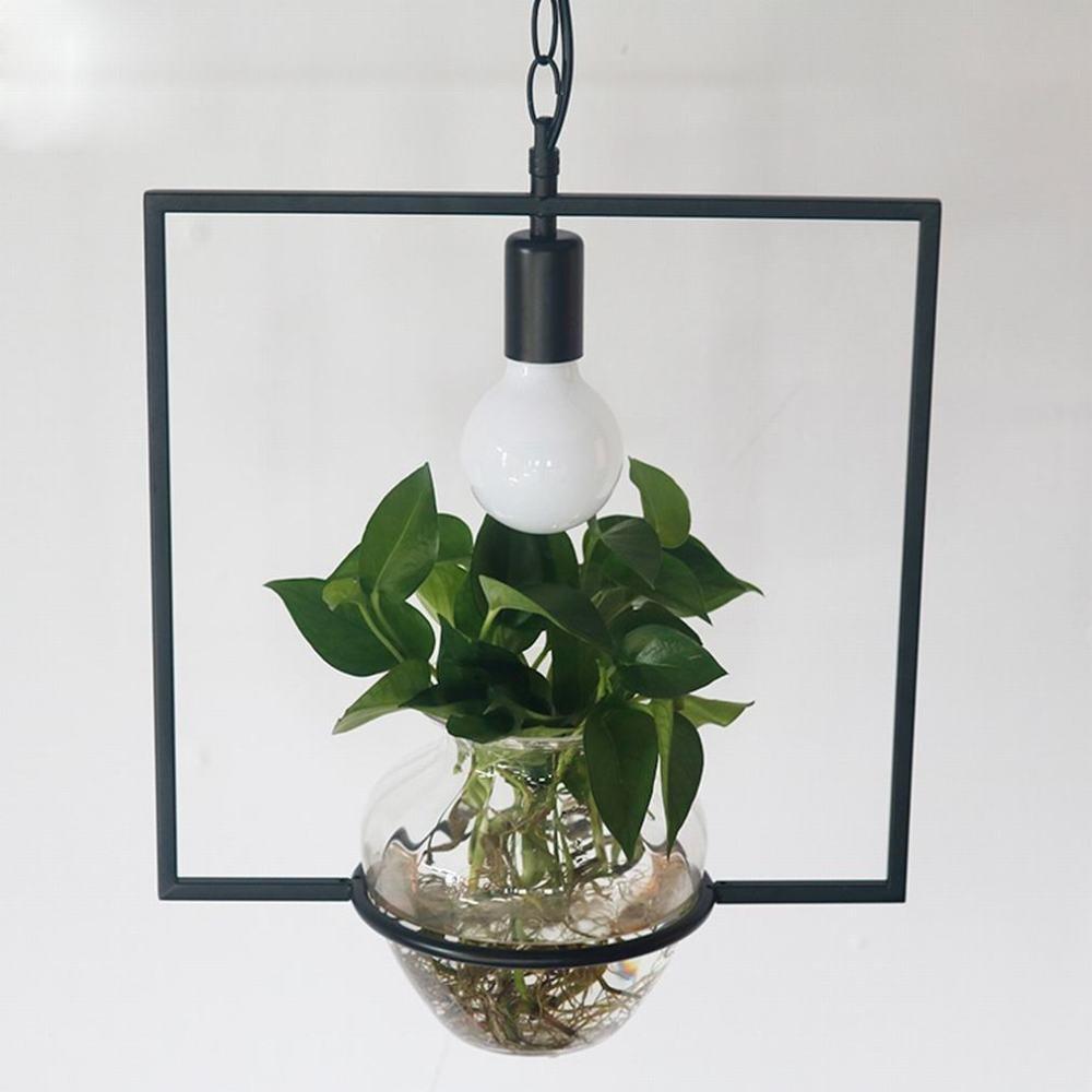 DEN Nordic pastoral creative personality front desk balcony bar green plant chandelier,A,Single head by DEN (Image #2)