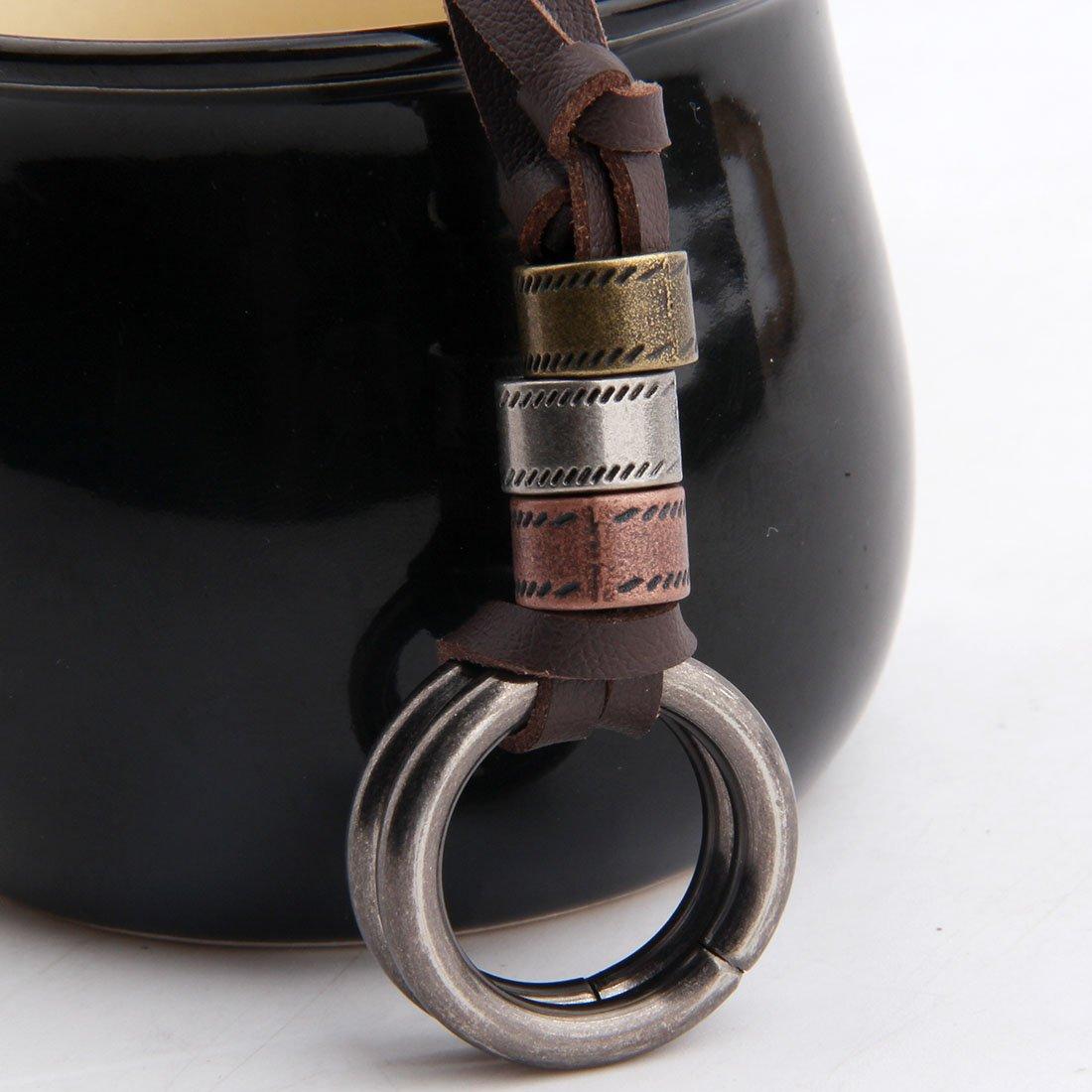 BNQL Eyeglass Holder Necklace O Ring Adjustable Leather Strap Necklace