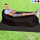 Akface™ 2.0 Inflatable Lounger Couch,One-chamber Nylon Fabric Portable Waterproof Compression Air Chair Hammock with Carry Bag for Camping ,Hiking,Park,Meadow Party, (Green)