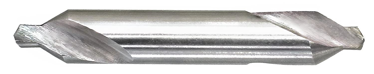 000 Size 60 Degrees Angle Finish Drillco 3500 Series High-Speed Steel Center Countersink Uncoated Bright 1//8 Body Diameter