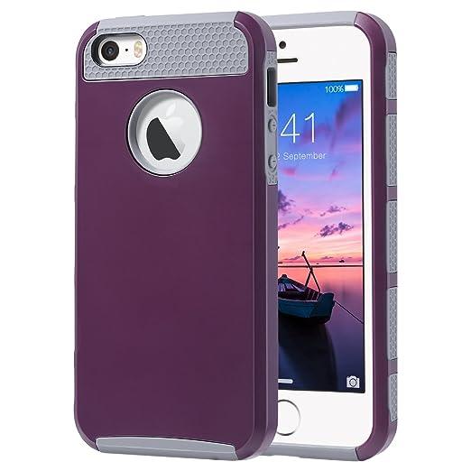 ULAK Cover iPhone 5S Silicone iPhone 5S Cover PC TPU Custodia
